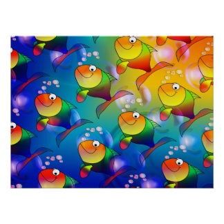 Colorful Fish Named Holly Poster