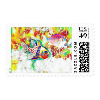 Colorful Fish Postage