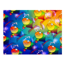 Colorful Fish Postcard