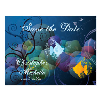 Colorful Fish Save the Date Wedding Announcement Postcard