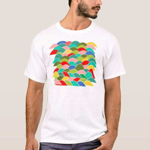 Colorful fish scale pattern t shirt zazzle for Fish scale shirt