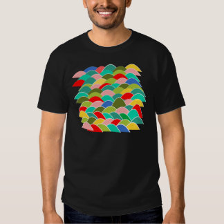 Colorful Fish Scale Pattern Tees