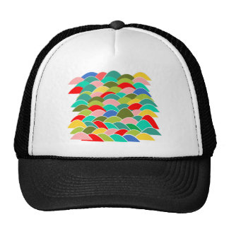 Colorful Fish Scale Pattern Trucker Hat
