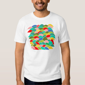 Colorful Fish Scale Pattern Tshirts