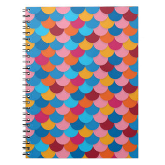 Colorful Fish Scale Photo Notebook
