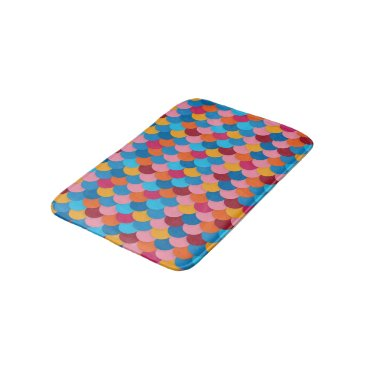 all_summer_products Colorful Fish Scale Small Bath Mat