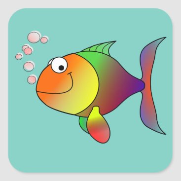 Beach Themed Colorful Fish Sticker
