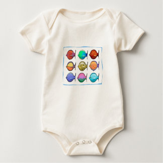 Colorful Fish Rompers