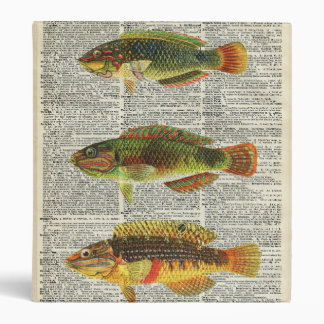 Colorful Fishes 3 Ring Binder
