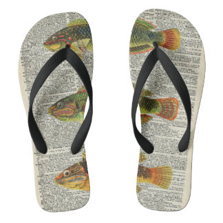 Colorful Fishes Flip Flops
