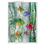 Colorful Fishies Note Card