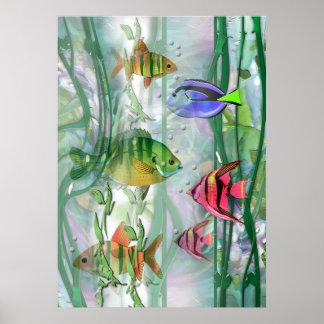 Colorful Fishies Print
