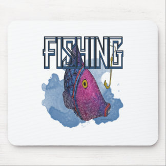 Colorful Fishing Gifts and Apparel Mouse Pads
