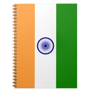 Colorful Flag of India Notebook