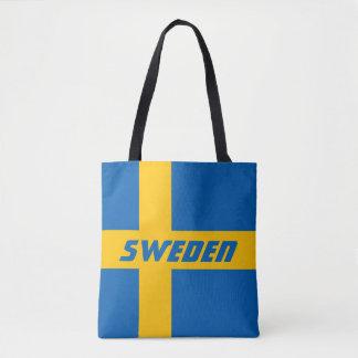 Colorful Flag of Sweden Tote Bag