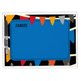 Colorful Flags Dry Erase Board