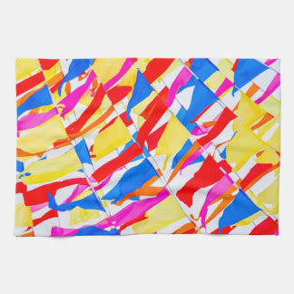 Colorful flags kitchen towel