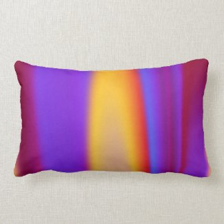 Colorful Flame Throw Pillow
