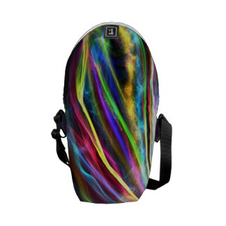 Colorful Flames Courier Bag