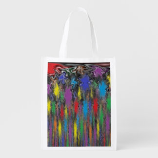 Colorful Flamethrower Reusable Grocery Bag
