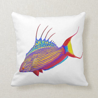 Colorful Flasher Wrasse Reef Fish Pillows