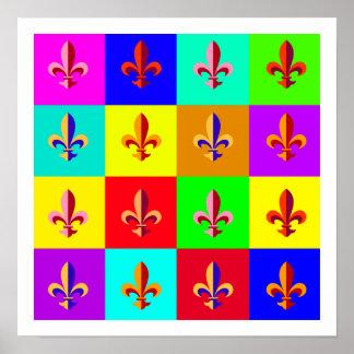 Colorful Fleur-de-lis Poster