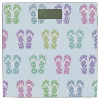 Colorful Flip Flop Print Bathroom Scale