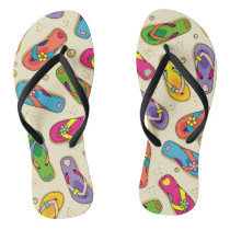 Colorful flip flop printed sandals