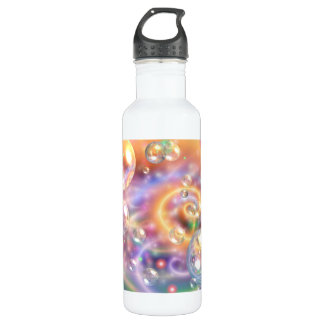 Colorful Floating Orbs Water Bottle