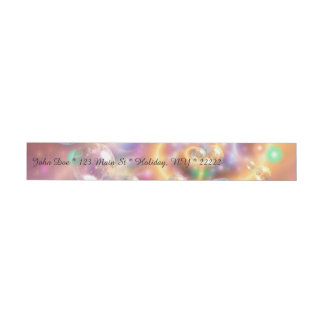 Colorful Floating Orbs Wrap Around Address Label