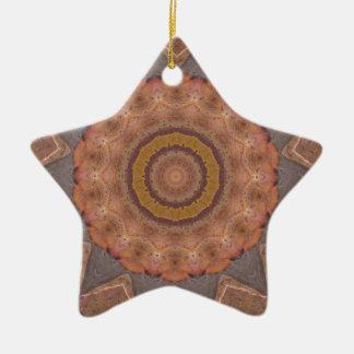 Colorful Floor Tiles Kaleidoscope 11 Ceramic Ornament
