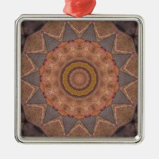 Colorful Floor Tiles Kaleidoscope 11 Metal Ornament