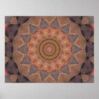 Colorful Floor Tiles Kaleidoscope 11 Poster