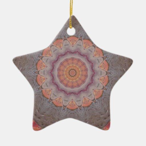 Colorful Floor Tiles Kaleidoscope 12 Christmas Tree Ornament