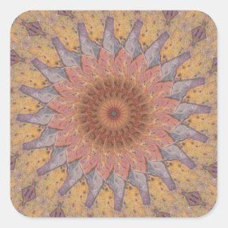 Colorful Floor Tiles Kaleidoscope 13 Square Sticker