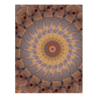 Colorful Floor Tiles Kaleidoscope 14 Postcard