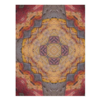 Colorful Floor Tiles Kaleidoscope 2 Postcard