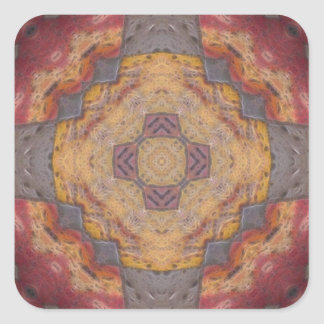 Colorful Floor Tiles Kaleidoscope 2 Square Sticker