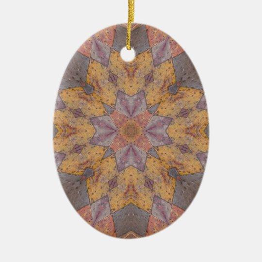 Colorful Floor Tiles Kaleidoscope 5 Ceramic Ornament