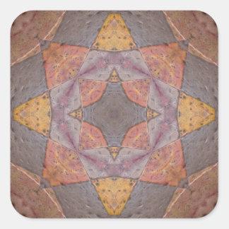 Colorful Floor Tiles Kaleidoscope 6 Square Sticker