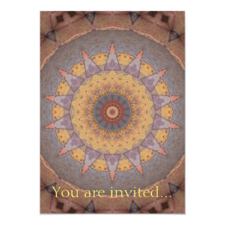 Colorful Floor Tiles Kaleidoscope 7 Card