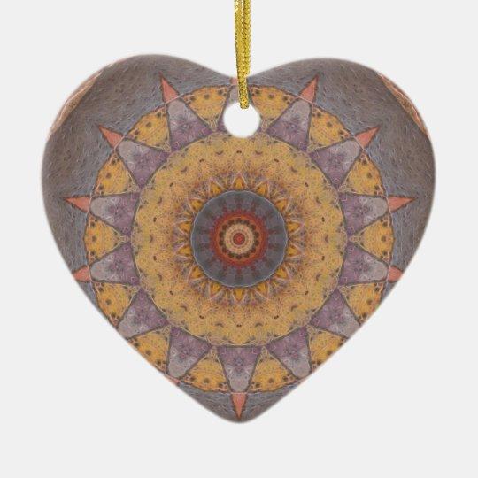Colorful Floor Tiles Kaleidoscope 7 Ceramic Ornament