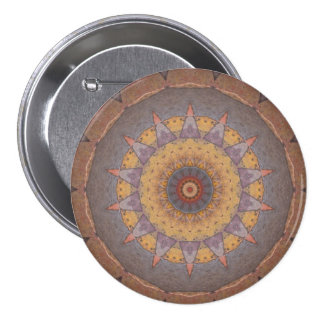 Colorful Floor Tiles Kaleidoscope 7 Pinback Button