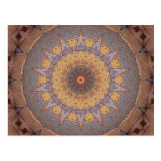 Colorful Floor Tiles Kaleidoscope 7 Postcard