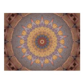 Colorful Floor Tiles Kaleidoscope 7 Postcard
