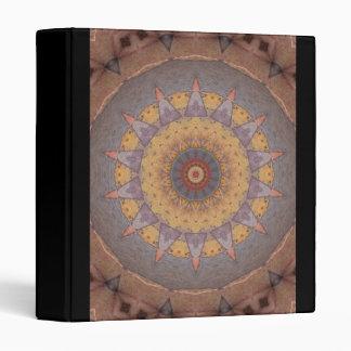Colorful Floor Tiles Kaleidoscope 7 Vinyl Binder