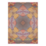 "Colorful Floor Tiles Kaleidoscope 8 5"" X 7"" Invitation Card"