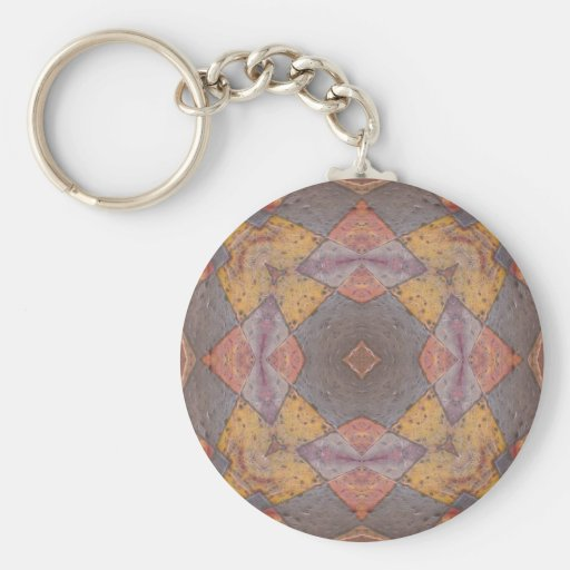 Colorful Floor Tiles Kaleidoscope 8 Key Chain