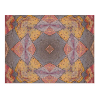 Colorful Floor Tiles Kaleidoscope 8 Postcard