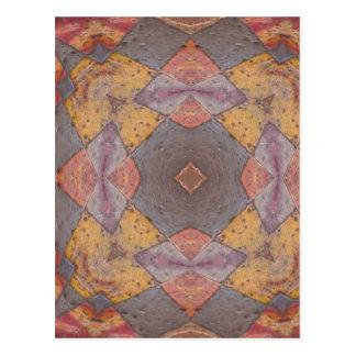 Colorful Floor Tiles Kaleidoscope 8 Postcard